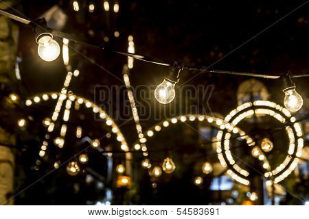 Lights of an amusement park