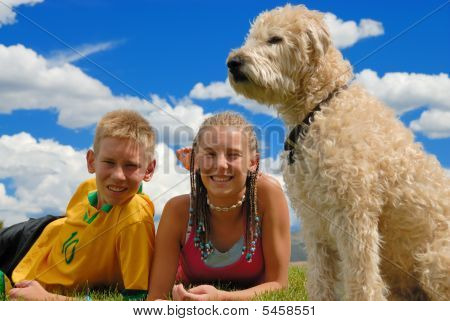 Brother Sister And Dog