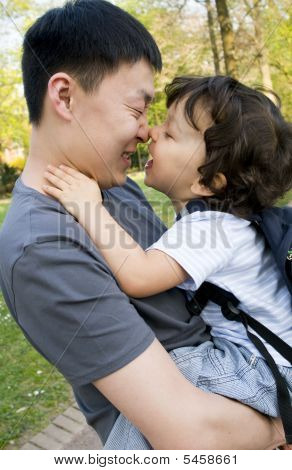 Little Boy  With Father.