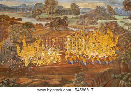 Murals At Wat Phra Kaew