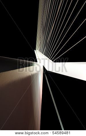 Big White Suspension Bridge Cables