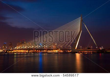 Erasmus Bridge by Night