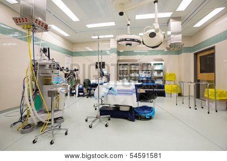 Interior of empty operating theater