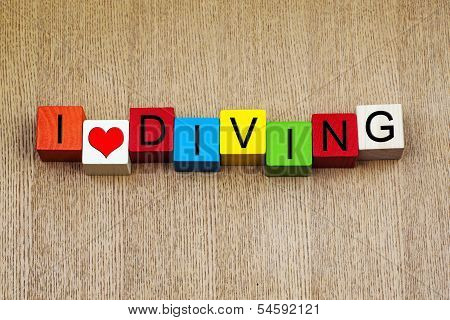 I Love Diving, sign series for sport