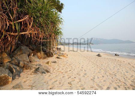Beautiful Beach On Lantau Island
