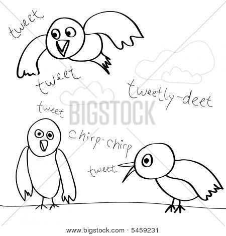 Los pájaros cantan Doodle