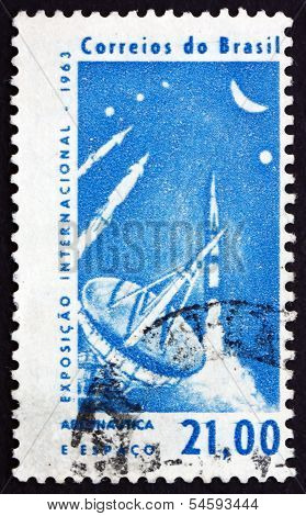 Postage Stamp Brazil 1963 Radar Tracking Station And Rockets