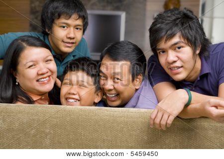 Asian Family Lifestyle Portrait