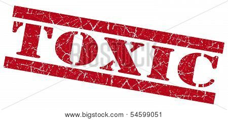 Toxic Red Grunge Stamp