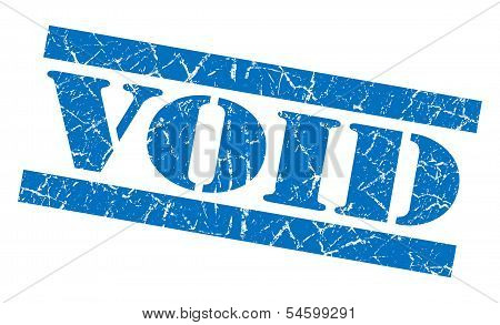Void Blue Grunge Stamp