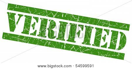 Verified Green Grunge Stamp