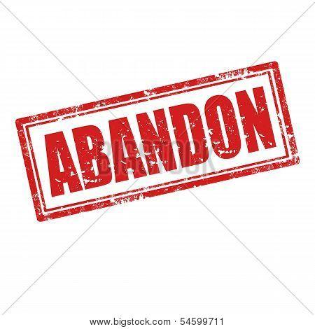 Abandon-stamp