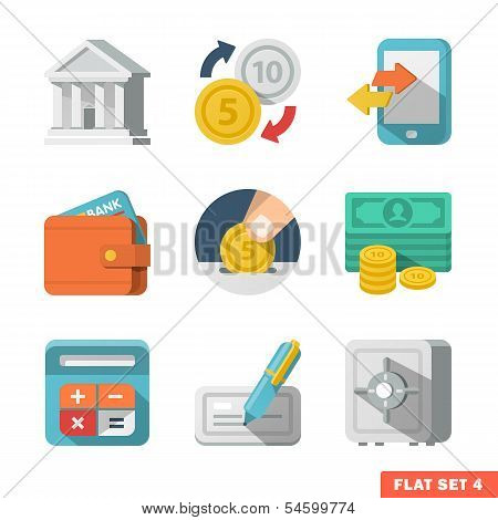 Money Flat Icon Set