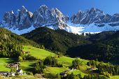 stock photo of italian alps  - Santa Maddalena Village - JPG