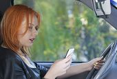 stock photo of driving  - Concept of danger driving - JPG