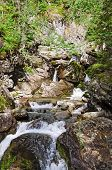 image of ural mountains  - Wild River Zhigalan on the ridge Kvarkush to the north of the Ural mountains - JPG