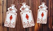 Three Christmas Cards With Woman Sticker