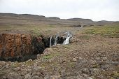 stock photo of taimyr  - Photo waterfall made during a hike in 2011 on the Putorana plateau - JPG