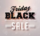 pic of friday  - Black Friday Sale Vector for Christmas Sale Banner Design - JPG