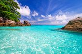 stock photo of atlantic ocean beach  - Paradise lagoon of Similan islands in Thailand - JPG