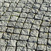 Pattern Of Cobble Stones At The Paveway