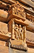 image of khajuraho  - sculptures at Vishvanatha Temple - JPG