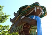 foto of annal  - God dragon in suphanburi province of thailand - JPG