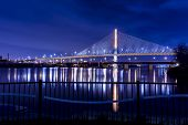 picture of skyway bridge  - Night view of the Veterans - JPG