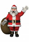 Image of santa with gifts.