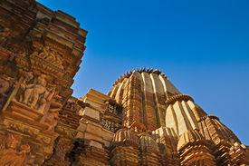picture of kandariya mahadeva temple  - Top of Kandariya Mahadeva Temple  - JPG