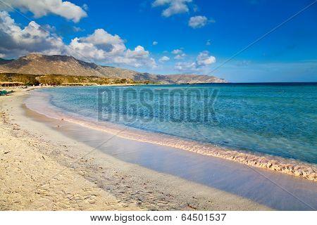 Beach At Elafonissi Lagoon