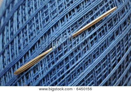 Blue Yarn Spool