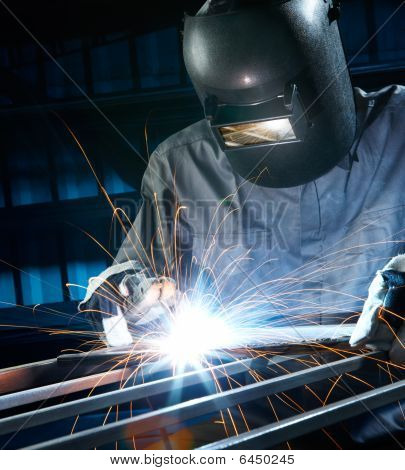 Welding In Workshop