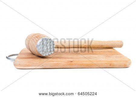 Meat Tenderizer And Board