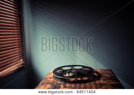 Film Reel On Table