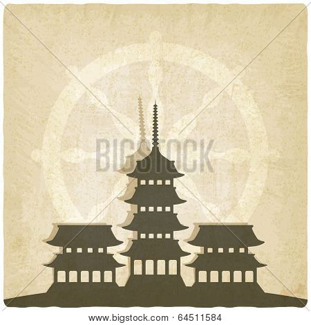 Buddhist temple old background