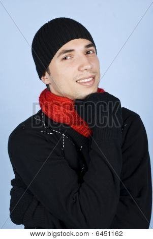 Smiling Winter Man