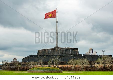 The Flag Tower (Cot Co) in the Citadel of Hue city, Vietnam Unesco World Heritage Site