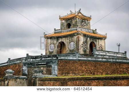 Ngan Gate of te Citadel in Hue's Imperial city, Vietnam