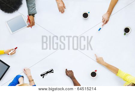 Group of Business People Planning for a New Project