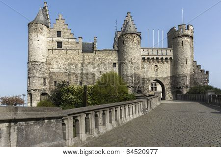 The Castle Of Antwerp, Belgium.
