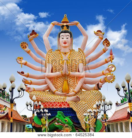 temple Laem - Statue of Shiva on Koh Samui island in Thailand