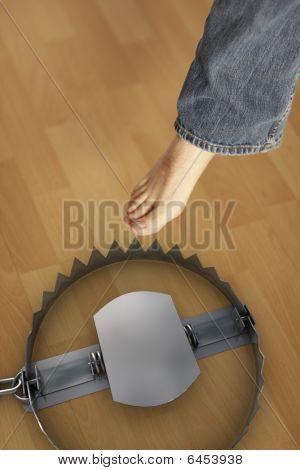 Man walking in trap