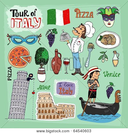 Tour of Italy illustration