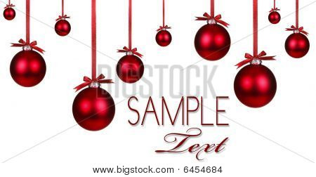 Red Christmas Holiday Ornament Hintergrund