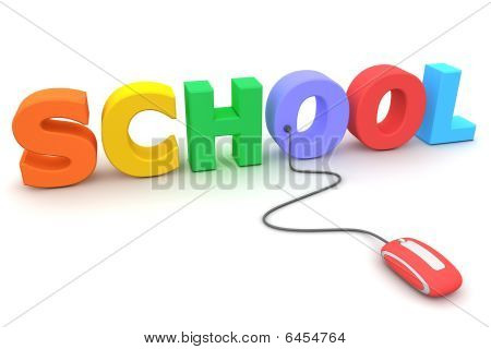 Browse The Colourful School - Red Mouse