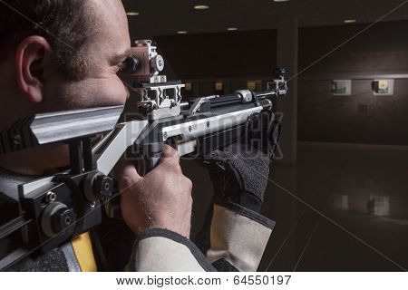 Close-up Of A Male Athlete Doing Target Practice