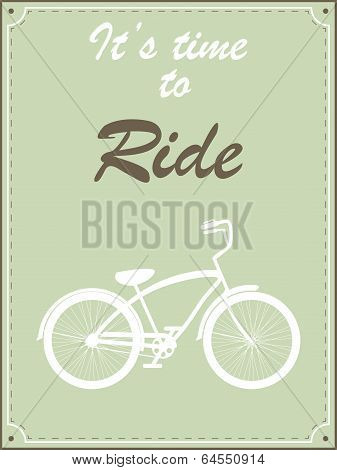 Hipster bike retro illustration