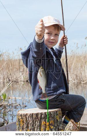 Boy While Fishing