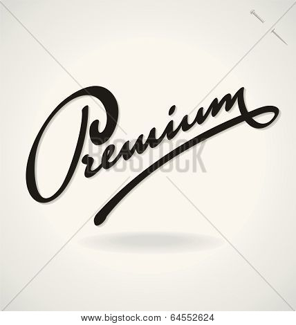 PREMIUM hand lettering (vector)